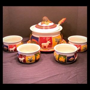American Atelier Soup Tureen and Bowls